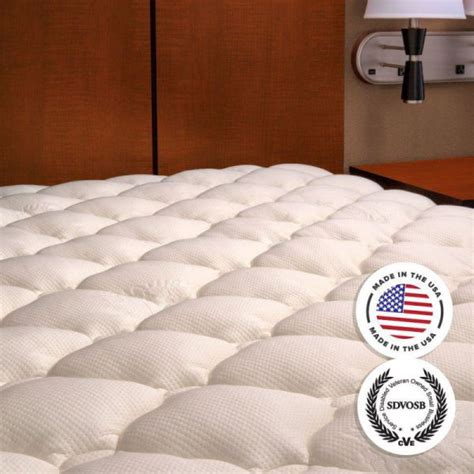 Plush Bamboo Fitted Mattress Topper by Plush Bamboo Fitted Mattress Topper Pad