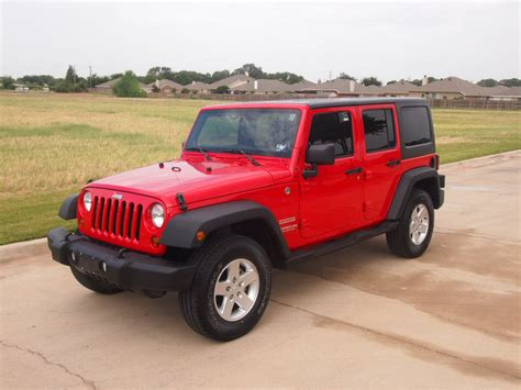red jeep red 2011 jeep wrangler unlimited sport suv 4x4 power