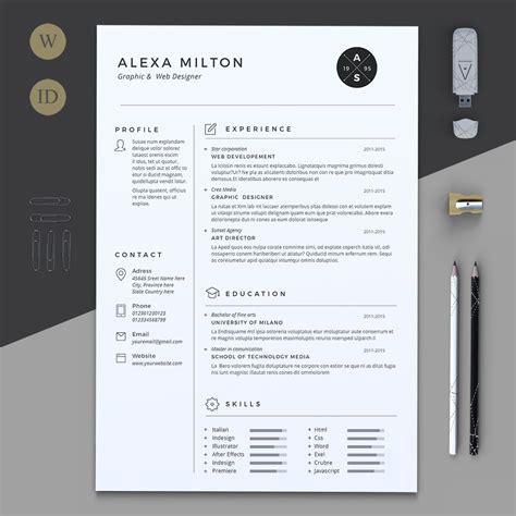 creative cv template pages 2 pages resume by estartshop on creativemarket