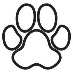 dog paw print images clipart best
