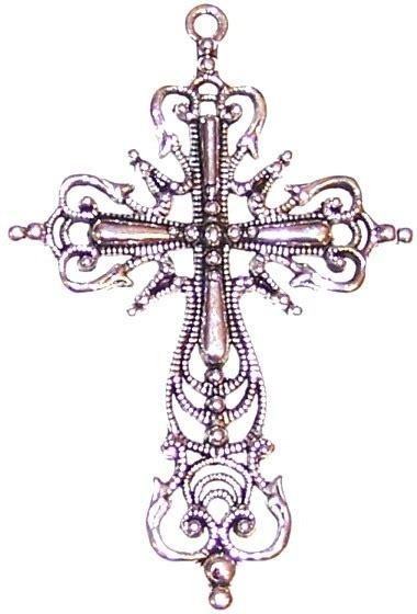 decorative cross pendant 64x24mm