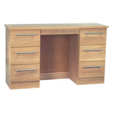 oak 6 drawer dressing table welcome furniture loxley 6 drawer dressing table in oak