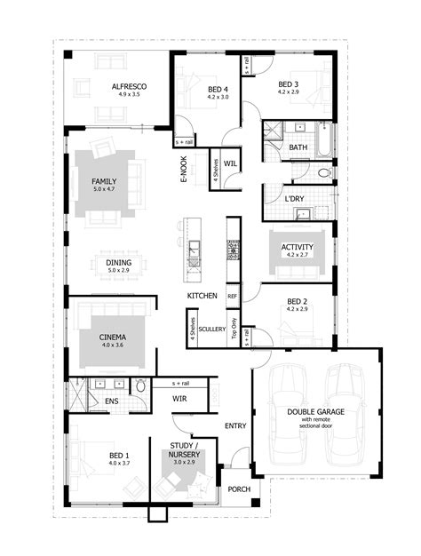 one house plans with 4 bedrooms 4 bedroom house plans home designs celebration homes