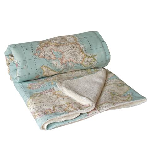 Or Blanket World Map Blanket Map Blanket Blue Blanket Baby Map
