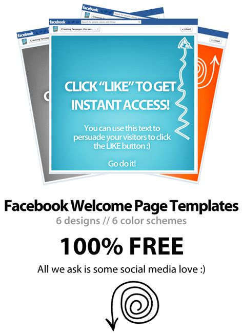 welcome page templates free welcome page template psd wp4fb 3 0