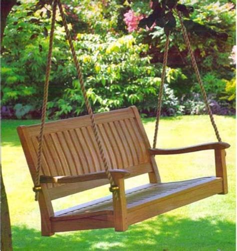 yard swing all things cedar 4 ft roosevelt teak porch swing traditional porch swings by