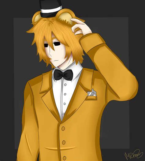 golden anime human freddy human golden freddy by peppermxnt on deviantart