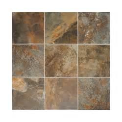lowes bathroom floor tiles shop american olean 44 pack kendal slate carlisle black