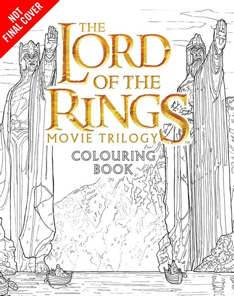 lord of the rings coloring book new merch lord of the rings colouring book