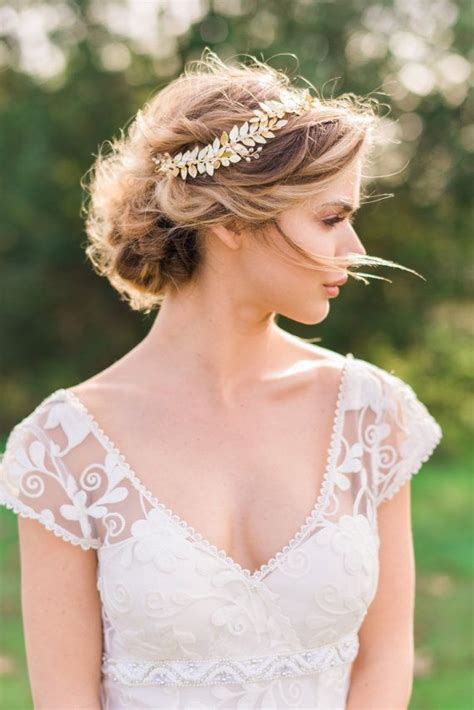 Wedding Hair Accessories Gold by 25 Best Ideas About Gold Leaf Headband On