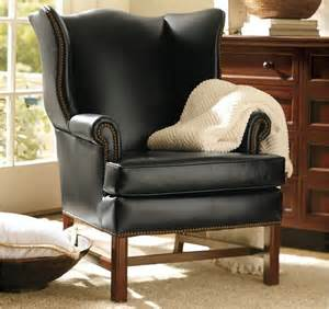 Leather Wing Chairs Design Ideas Thatcher Leather Wingback Chair Traditional Armchairs And Accent Chairs By Pottery Barn
