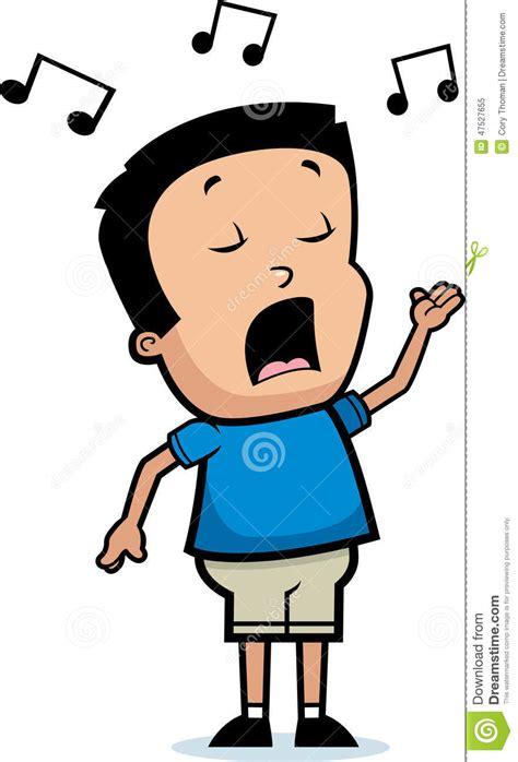 cartoon film video song cartoon boy singing stock vector illustration of hispanic