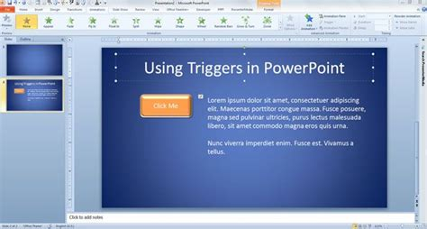 tutorial trigger powerpoint c 243 mo usar triggers en powerpoint 2010
