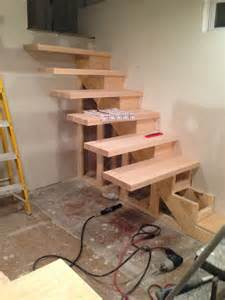 Do It Yourself Stairs how to build floating stairs step by step handy father