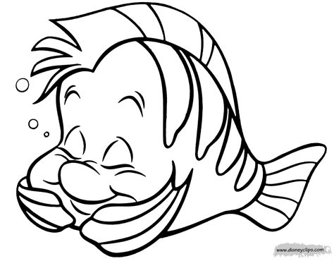 flounder coloring pages from the little mermaid the little mermaid coloring pages disney coloring book