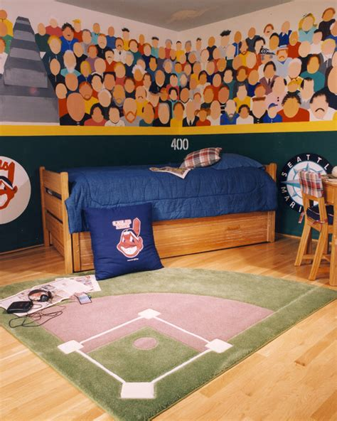 Baseball Bedroom Decorations Baseball Theme Bedroom Traditional Other Metro By Designs Interiors Ltd