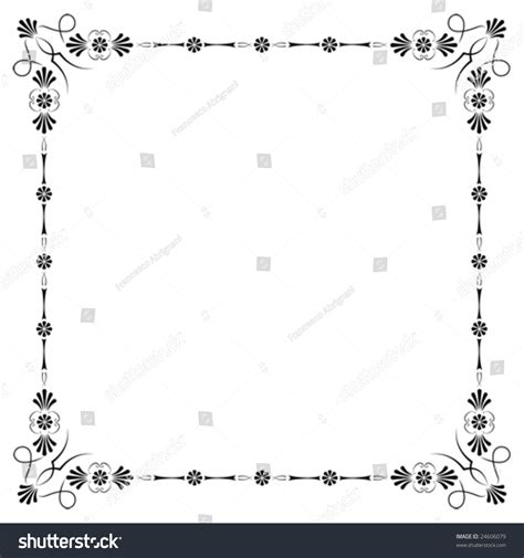 corners borders page decorations easy stock vector