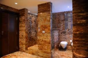 Bathroom Shower Idea Colors Designing Contemporary Bathroom Using Throne Brown Shower