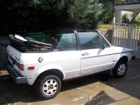 purchase   vw rabbit convertible good condition    tlc project