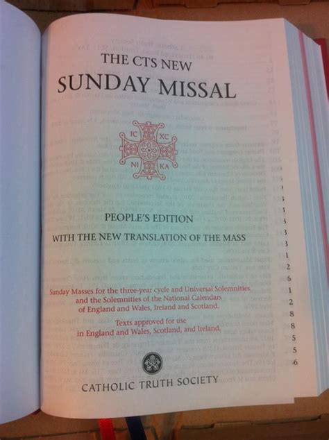 excerpts from the missal books cts uk people s edition of the missal