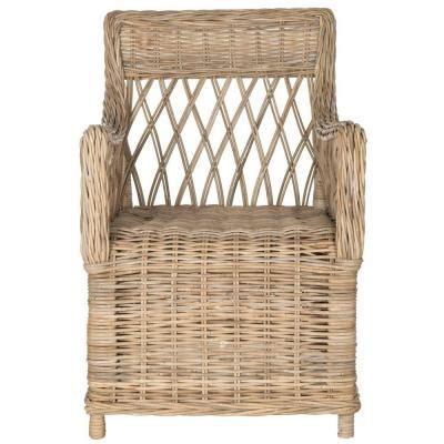Home Depot Wicker Chairs by Safavieh Hinaku Rattan Arm Chair In Fox1603a The