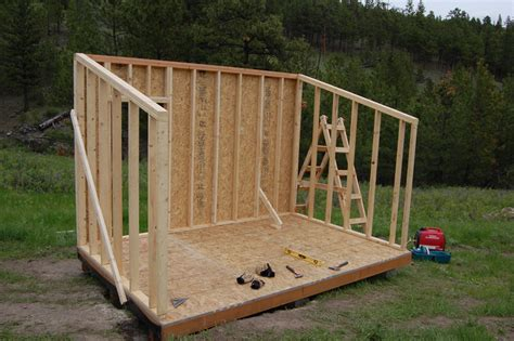 how to build a small wooden storage shed