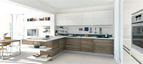 contemporary kitchen open modern kitchens with few pops of color