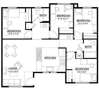 3 bedroom flat architectural plan fast acting find anything locator spell apartment floor