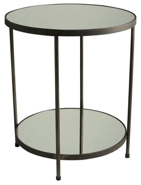 contemporary bedroom side tables tiered side table side 1960s mirrored two tiered round side table modern