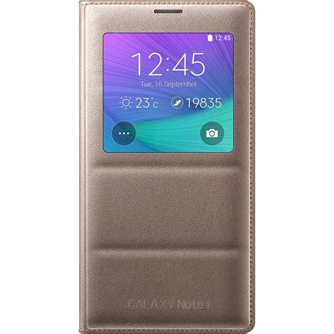 Sarung Flip Cover Note4 samsung galaxy note 4 s view flip cover folio bronze gold cell phones