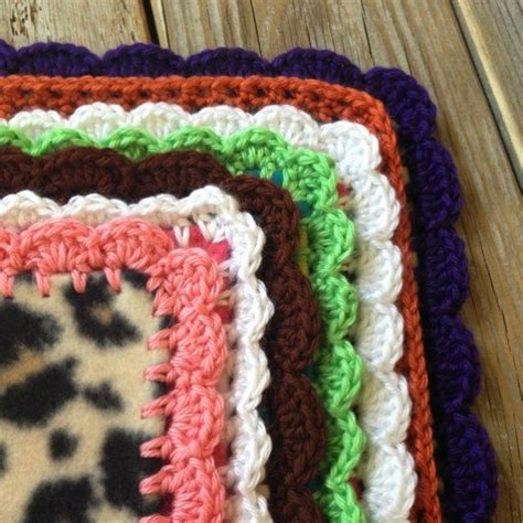 crochet fleece blanket pattern blankets how to crochet and simple on pinterest