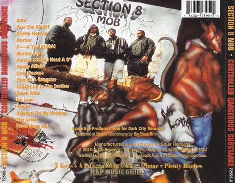 section 8 mob section 8 mob controlled dangerous substance cd rap