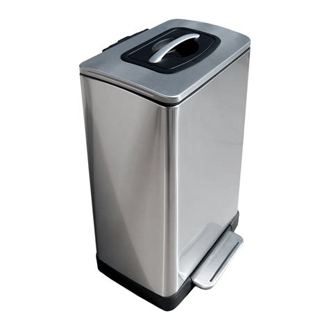 trash krusher trash can with built in manual trash compactor the green