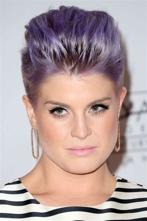 side shaved hair round face kelly osbourne s new mohawk totally makes us think of