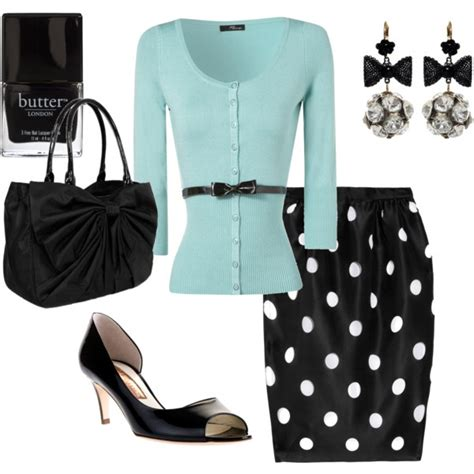 Top Polkadot Another 60 best polyvore skirts with cardigans and other sweaters images on clothing styles