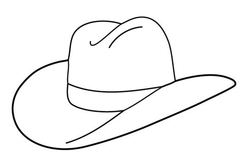 free coloring pages cowboy hat cowboy hat coloring page printable coloring image
