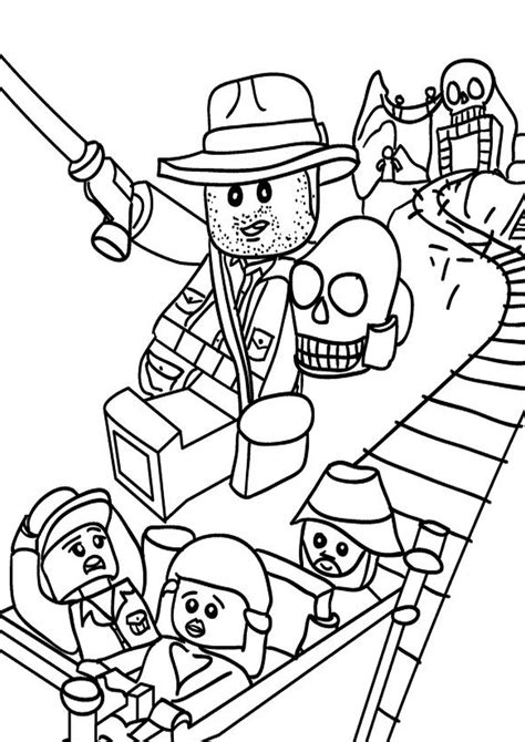 indiana jones lego coloring page indiana jones free colouring pages