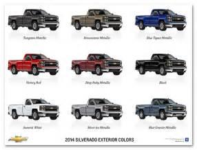2014 chevy silverado colors image gallery 2014 silverado colors