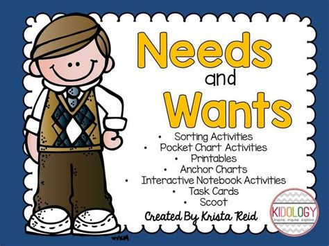 kindergarten activities needs and wants needs and wants activities kindergarten and social studies