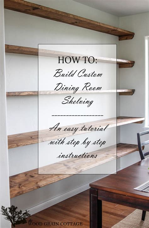 Wall To Wall Shelving Diy Dining Room Open Shelving The Wood Grain Cottage