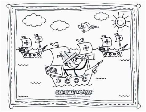 Christopher Columbus Coloring Pages Pictures To Pin On Christopher Columbus Coloring Pages