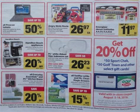 Ontario Gift Cards - real canadian superstore save 20 on select gift cards again next week canadian