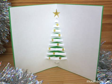 pop  christmas tree card muumade