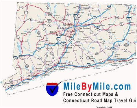 printable connecticut road map connecticut state highway map maplets