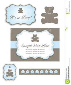 More similar stock images of bear baby shower set of icons and tags