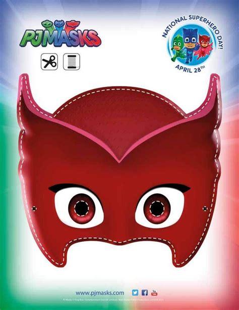 printable owlette mask pj masks party printables for free mask party pj mask