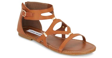 steve madden strappy sandals steve madden s strappy sandals in brown cognac lyst
