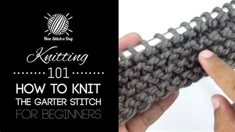 how to knit garter stitch knitting 101 how to knit the garter stitch