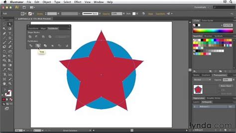 tutorial illustrator pathfinder using the pathfinder panel