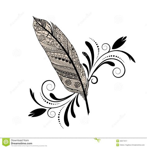 graphic design feather stock vector image of flourish